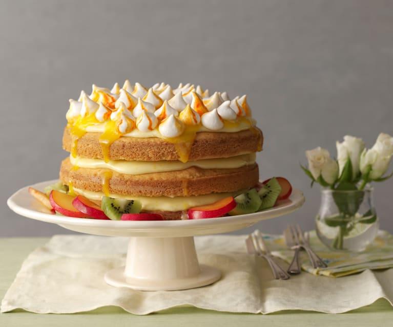 Tropisk frukt kake